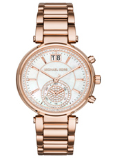 MK6282 Sawyer 39mm Rose gold ladies chronograph with Big Date