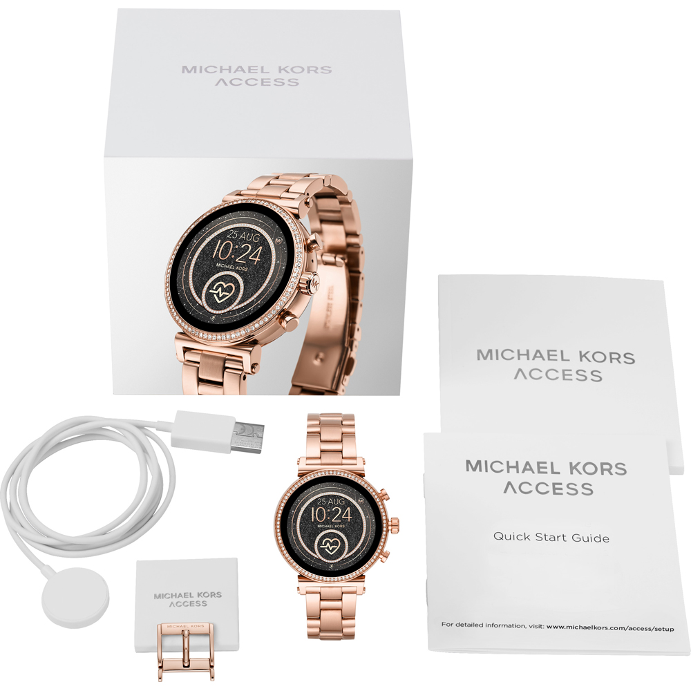 2f6825d08b2d Touchscreen Smartwatch with Steel Bracelet Spring and Summer Collection Michael  Kors