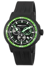 MD1164BKRB-03B MD1164 Pilot Pro  46mm Black & green pilot chrono with date