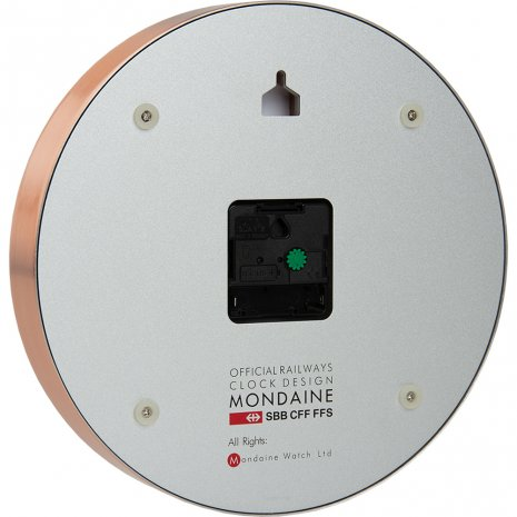 Rose gold toned Swiss Railways clock Autumn and Winter Collection Mondaine