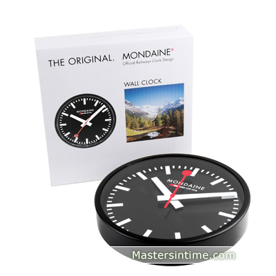 Mondaine Clock Black