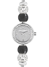 R0153122521 Drops Time Silver ladies bracelet watch with crystals & beads