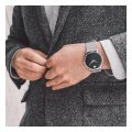 Black Gents Watch with Concave Dot Autumn and Winter Collection Movado