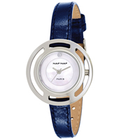 N10272-208 Dionne 32mm Silver Ladies watch on Blue Leather Strap