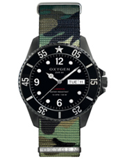 EX-D-MBB-44-NN-AR Diver 44 Moby Dick Steel Gents Diving Watch with Camo Nato Strap