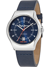 R2351113002 Joey 40mm Silver Gent's Watch With Blue Dial And Blue Leather Strap