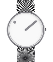 43364-P  40mm White design watch witch extra silicone strap