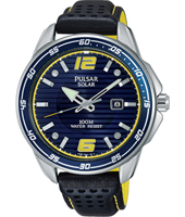 PX3091X1  42mm Blue solar powered gents watch