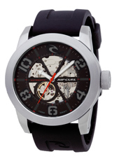 A2492-90 R1 Automatic 48mm Black & Steel Automatic Skeleton Watch