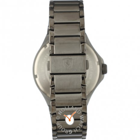 Gunmetal gents watch with day-date Spring and Summer Collection Scuderia Ferrari