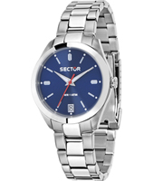 R3253486504 245 Racing 31mm Silver Ladies Quartz Watch with Blue Dial