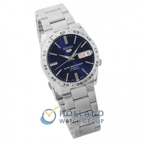 Blue Automatic Watch with Day-Date Spring and Summer Collection Seiko