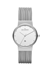 355SSS1 Ancher Small 26mm Silver Ladies Watch with Milanese Bracelet