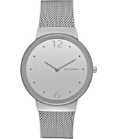 SKW2380 Freja Large 34mm Silver ladies watch with mesh bracelet