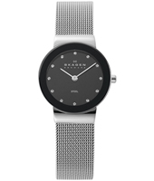 358SSSBD Freja Small 26mm Silver & Black Ladies Watch