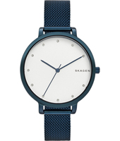 SKW2579 Hagen Medium 34mm Blue ladies watch with milanese bracelet
