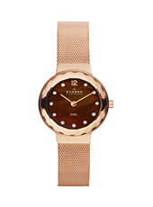 456SRR1 Leonora Small 25mm Rose gold ladies watch with Milanese bracelet