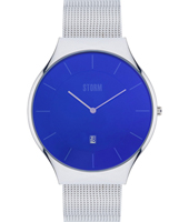 47320-LB Reese XL 42mm Steel & blue quartz watch with date