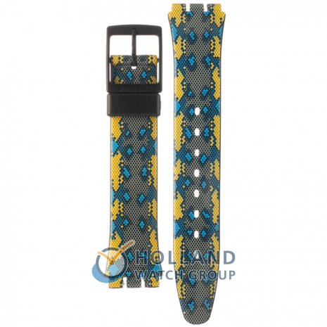 Swatch GB254 Snaky Blue Strap