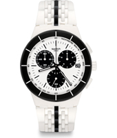 SUSW407 Piste Noire 42mm Plastic chronograph with date