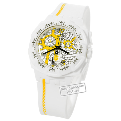 White Resin Chronograph with Date Autumn and Winter Collection Swatch