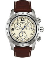 T36131672 V8 43mm Bold Steel & brown Chronograph