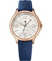 1781710 Amelia 39mm Rose gold & witte ladies watch with extra strap