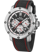 TS2 Grandeur Tech 48mm Steel chronograph with carbon dial and rubber strap