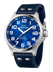 TW400 Pilot  45mm Steel & Blue Watch with Date