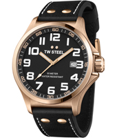 TW417 Pilot 48mm Black & Rose Watch with Date