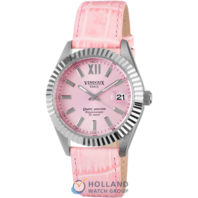 Vendoux Pau Pink Ladies Watch with Date