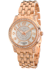 MR24500-02 Versailles Rose Gold Ladies Watch with Crystals and Decorated Dial
