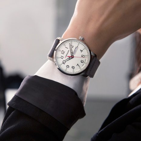 Swiss Gents Watch with Day-Date Spring and Summer Collection Wenger